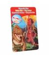 Dino World mini dino katapult T-rex rood